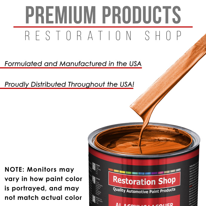 Firemist Orange - Acrylic Lacquer Auto Paint - Complete Quart Paint Kit with Medium Thinner - Professional Gloss Automotive, Car, Truck, Guitar and Furniture Refinish Coating
