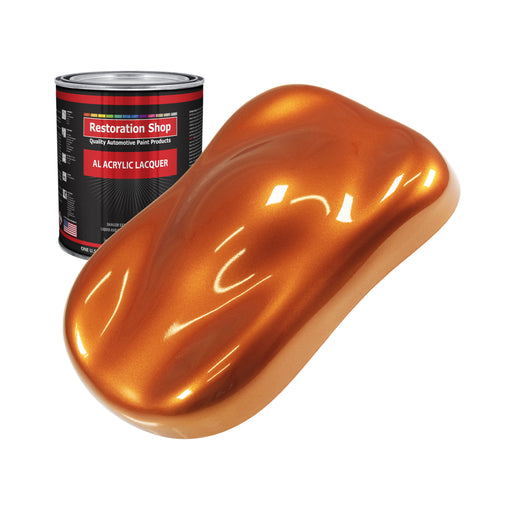 Firemist Orange - Acrylic Lacquer Auto Paint - Quart Paint Color Only - Professional Gloss Automotive, Car, Truck, Guitar & Furniture Refinish Coating