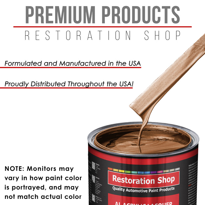 Bronze Firemist - Acrylic Lacquer Auto Paint - Complete Quart Paint Kit with Medium Thinner - Professional Gloss Automotive, Car, Truck, Guitar and Furniture Refinish Coating
