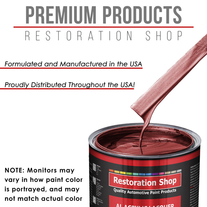Firemist Red - Acrylic Lacquer Auto Paint - Complete Quart Paint Kit with Medium Thinner - Professional Gloss Automotive, Car, Truck, Guitar and Furniture Refinish Coating