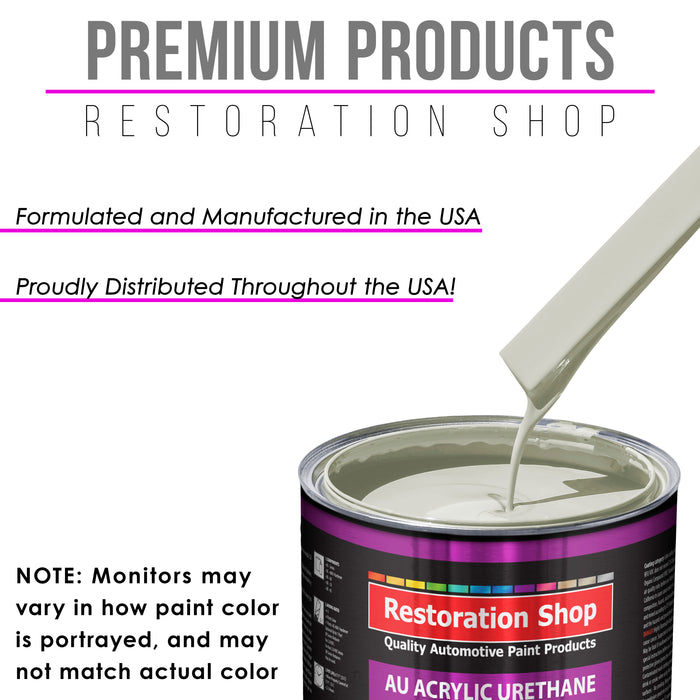 Arctic White Acrylic Urethane Auto Paint - Gallon Paint Color Only - Professional Single Stage High Gloss Automotive, Car, Truck Coating, 2.8 VOC