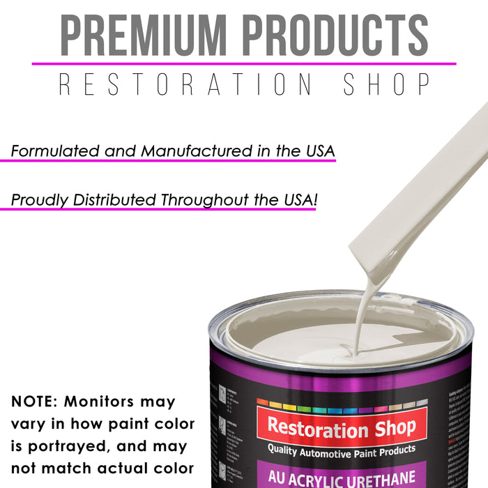 Pure White Acrylic Urethane Auto Paint - Complete Quart Paint Kit - Professional Single Stage High Gloss Automotive, Car, Truck Coating, 4:1 Mix Ratio 2.8 VOC