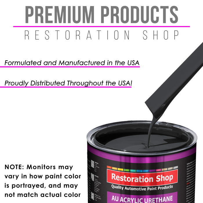 Machinery Gray Acrylic Urethane Auto Paint - Complete Quart Paint Kit - Professional Single Stage High Gloss Automotive, Car, Truck Coating, 4:1 Mix Ratio 2.8 VOC