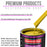 Electric Yellow Acrylic Urethane Auto Paint - Complete Quart Paint Kit - Professional Single Stage High Gloss Automotive, Car, Truck Coating, 4:1 Mix Ratio 2.8 VOC