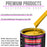 Indy Yellow Acrylic Urethane Auto Paint - Complete Quart Paint Kit - Professional Single Stage High Gloss Automotive, Car, Truck Coating, 4:1 Mix Ratio 2.8 VOC
