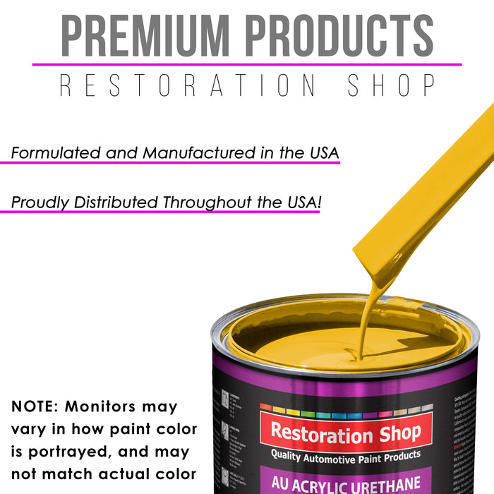 Indy Yellow Acrylic Urethane Auto Paint - Quart Paint Color Only - Professional Single Stage High Gloss Automotive, Car, Truck Coating, 2.8 VOC