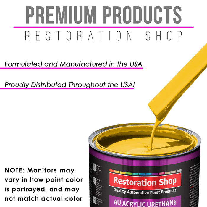 Sunshine Yellow Acrylic Urethane Auto Paint - Gallon Paint Color Only - Professional Single Stage High Gloss Automotive, Car, Truck Coating, 2.8 VOC