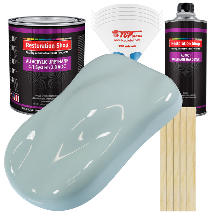 Diamond Blue Acrylic Urethane Auto Paint - Complete Gallon Paint Kit - Professional Single Stage High Gloss Automotive, Car, Truck Coating, 4:1 Mix Ratio 2.8 VOC