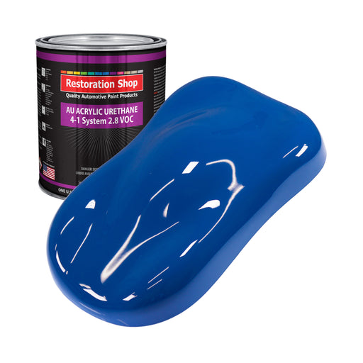 Reflex Blue Acrylic Urethane Auto Paint - Gallon Paint Color Only - Professional Single Stage High Gloss Automotive, Car, Truck Coating, 2.8 VOC