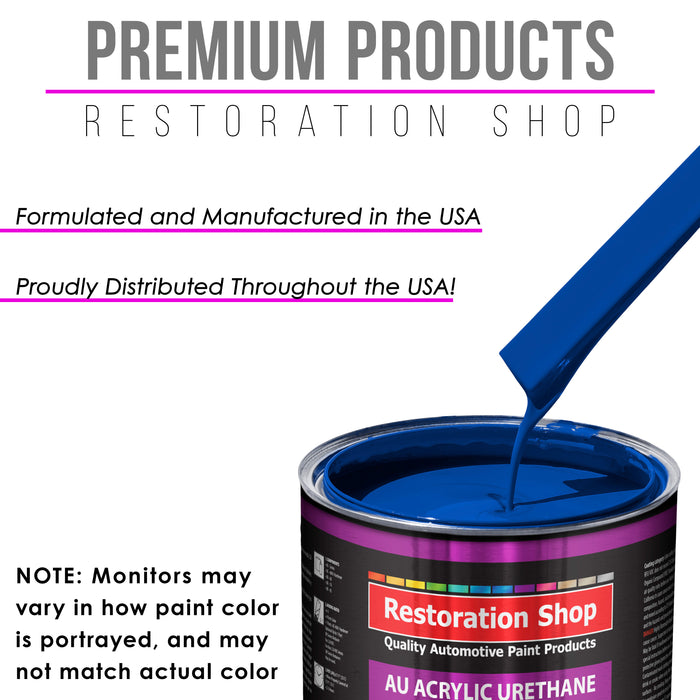 Reflex Blue Acrylic Urethane Auto Paint - Complete Gallon Paint Kit - Professional Single Stage High Gloss Automotive, Car, Truck Coating, 4:1 Mix Ratio 2.8 VOC