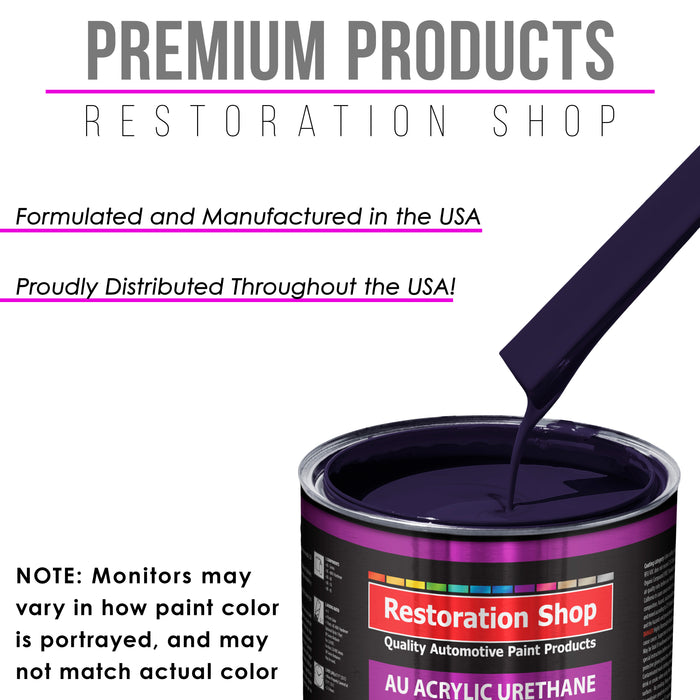Majestic Purple Acrylic Urethane Auto Paint - Gallon Paint Color Only - Professional Single Stage High Gloss Automotive, Car, Truck Coating, 2.8 VOC
