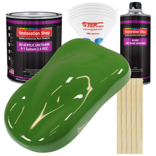 Deere Green Acrylic Urethane Auto Paint - Complete Gallon Paint Kit - Professional Single Stage High Gloss Automotive, Car, Truck Coating, 4:1 Mix Ratio 2.8 VOC