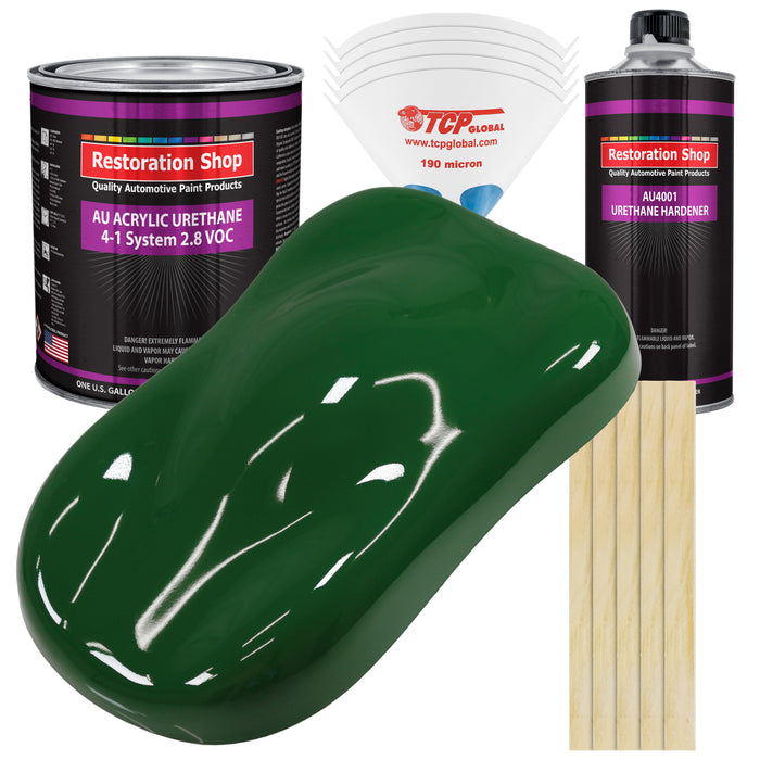 Speed Green Acrylic Urethane Auto Paint - Complete Gallon Paint Kit - Professional Single Stage High Gloss Automotive, Car, Truck Coating, 4:1 Mix Ratio 2.8 VOC
