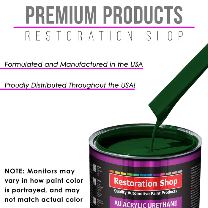 Speed Green Acrylic Urethane Auto Paint - Complete Quart Paint Kit - Professional Single Stage High Gloss Automotive, Car, Truck Coating, 4:1 Mix Ratio 2.8 VOC