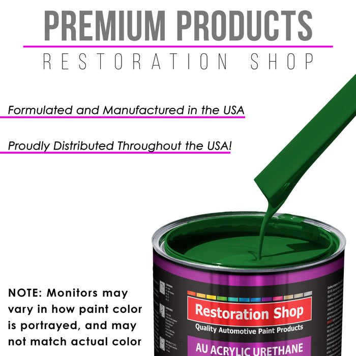 Emerald Green Acrylic Urethane Auto Paint - Quart Paint Color Only - Professional Single Stage High Gloss Automotive, Car, Truck Coating, 2.8 VOC