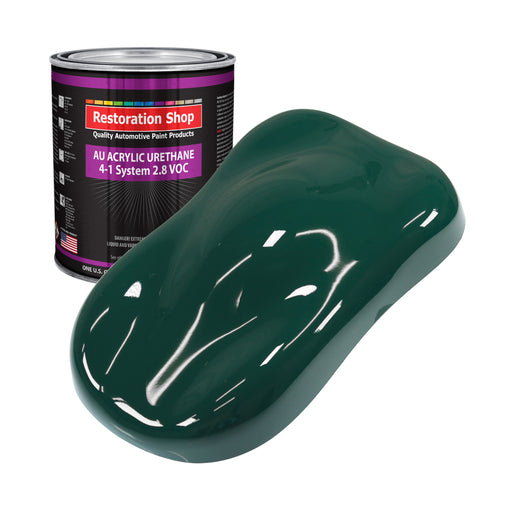Woodland Green Acrylic Urethane Auto Paint - Gallon Paint Color Only - Professional Single Stage High Gloss Automotive, Car, Truck Coating, 2.8 VOC