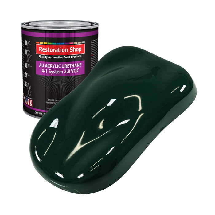 British Racing Green Acrylic Urethane Auto Paint - Gallon Paint Color Only - Professional Single Stage High Gloss Automotive, Car, Truck Coating, 2.8 VOC
