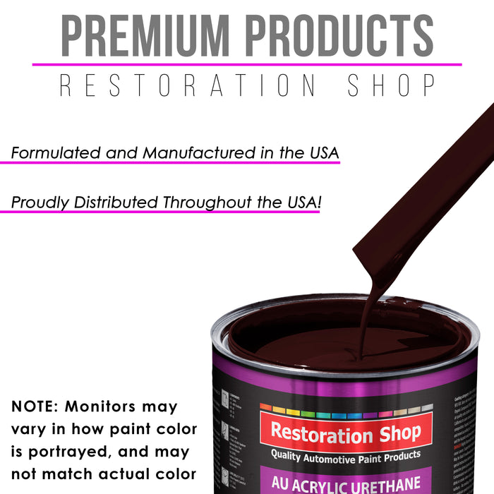 Royal Maroon Acrylic Urethane Auto Paint - Complete Gallon Paint Kit - Professional Single Stage High Gloss Automotive, Car, Truck Coating, 4:1 Mix Ratio 2.8 VOC