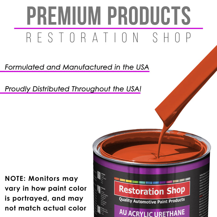 Charger Orange Acrylic Urethane Auto Paint - Complete Quart Paint Kit - Professional Single Stage High Gloss Automotive, Car, Truck Coating, 4:1 Mix Ratio 2.8 VOC