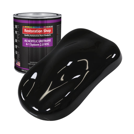Boulevard Black Acrylic Urethane Auto Paint - Gallon Paint Color Only - Professional Single Stage High Gloss Automotive, Car, Truck Coating, 2.8 VOC