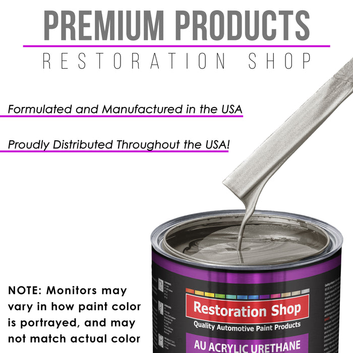 Pewter Silver Metallic Acrylic Urethane Auto Paint - Complete Gallon Paint Kit - Professional Single Stage High Gloss Automotive, Car, Truck Coating, 4:1 Mix Ratio 2.8 VOC