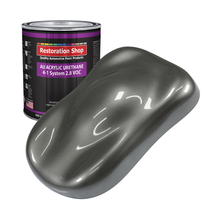 Dark Charcoal Metallic Acrylic Urethane Auto Paint - Gallon Paint Color Only - Professional Single Stage High Gloss Automotive, Car, Truck Coating, 2.8 VOC