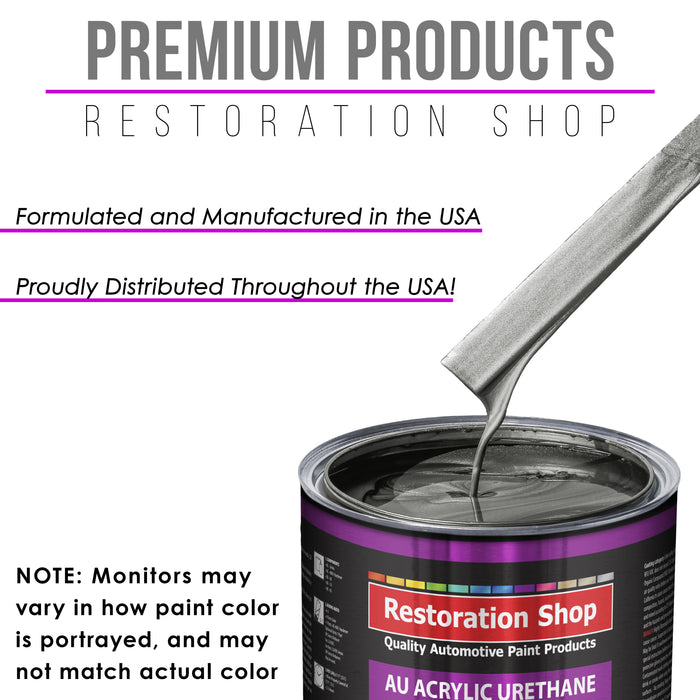 Dark Charcoal Metallic Acrylic Urethane Auto Paint - Complete Gallon Paint Kit - Professional Single Stage High Gloss Automotive, Car, Truck Coating, 4:1 Mix Ratio 2.8 VOC