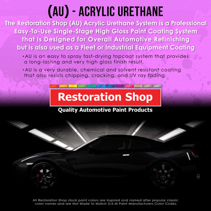 Anthracite Gray Metallic Acrylic Urethane Auto Paint - Complete Quart Paint Kit - Professional Single Stage High Gloss Automotive, Car, Truck Coating, 4:1 Mix Ratio 2.8 VOC
