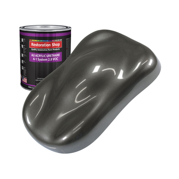Anthracite Gray Metallic Acrylic Urethane Auto Paint - Quart Paint Color Only - Professional Single Stage High Gloss Automotive, Car, Truck Coating, 2.8 VOC