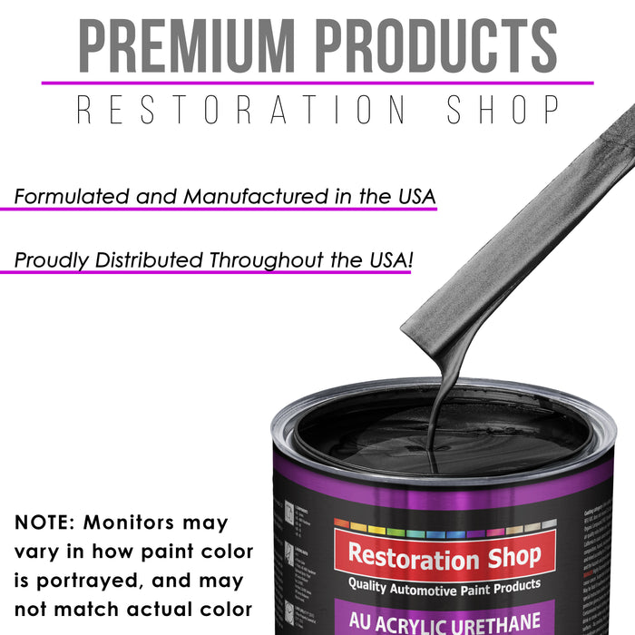Black Sparkle Metallic Acrylic Urethane Auto Paint - Complete Quart Paint Kit - Professional Single Stage High Gloss Automotive, Car, Truck Coating, 4:1 Mix Ratio 2.8 VOC