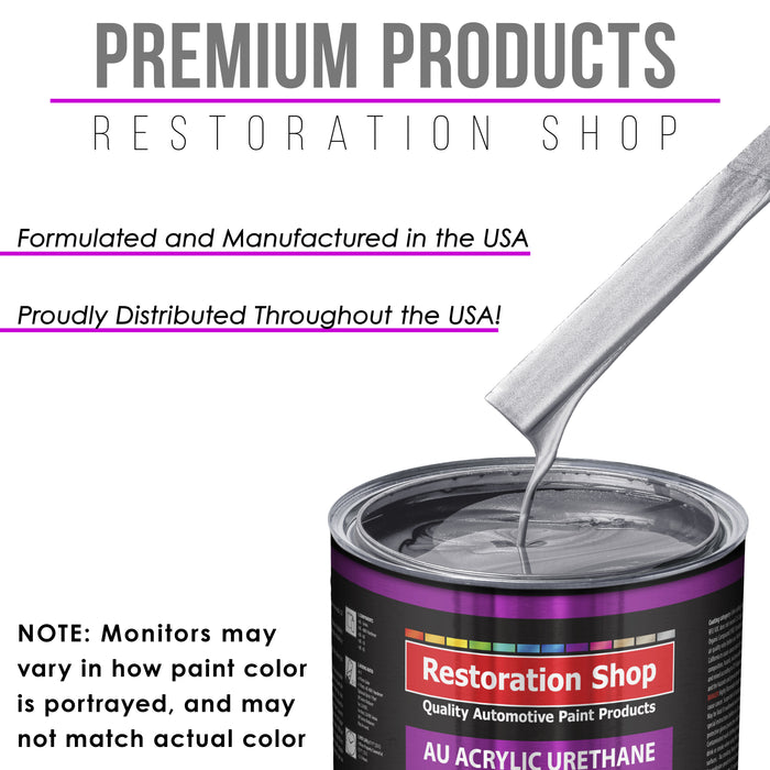 Iridium Silver Metallic Acrylic Urethane Auto Paint - Complete Gallon Paint Kit - Professional Single Stage High Gloss Automotive, Car, Truck Coating, 4:1 Mix Ratio 2.8 VOC