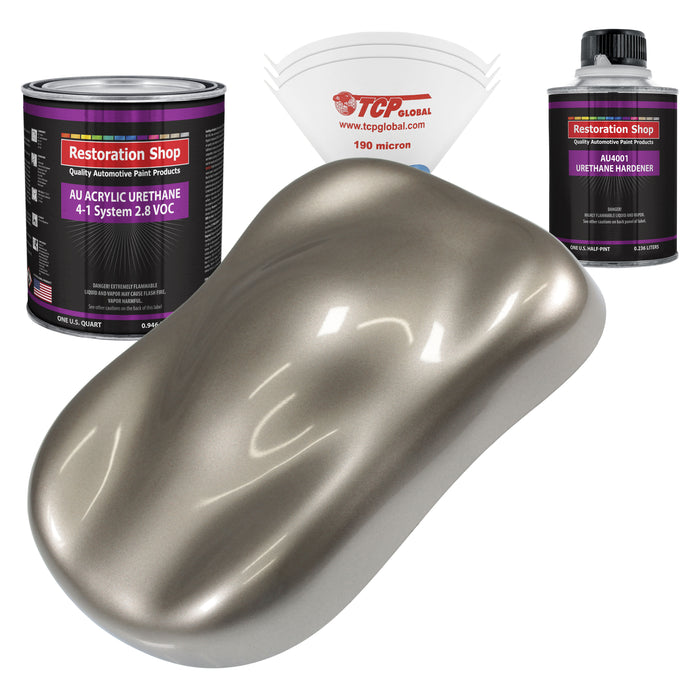Arizona Bronze Metallic Acrylic Urethane Auto Paint - Complete Quart Paint Kit - Professional Single Stage High Gloss Automotive, Car, Truck Coating, 4:1 Mix Ratio 2.8 VOC