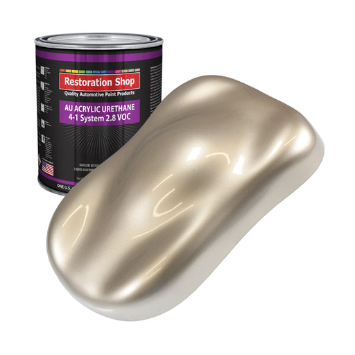 Cashmere Gold Metallic Acrylic Urethane Auto Paint - Gallon Paint Color Only - Professional Single Stage High Gloss Automotive, Car, Truck Coating, 2.8 VOC