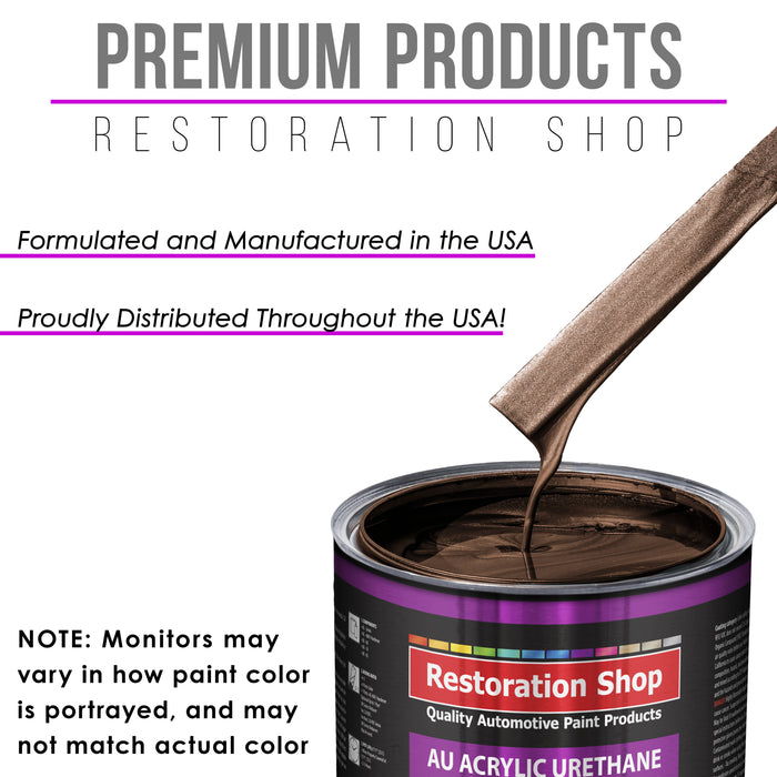 Mahogany Brown Metallic Acrylic Urethane Auto Paint - Quart Paint Color Only - Professional Single Stage High Gloss Automotive, Car, Truck Coating, 2.8 VOC