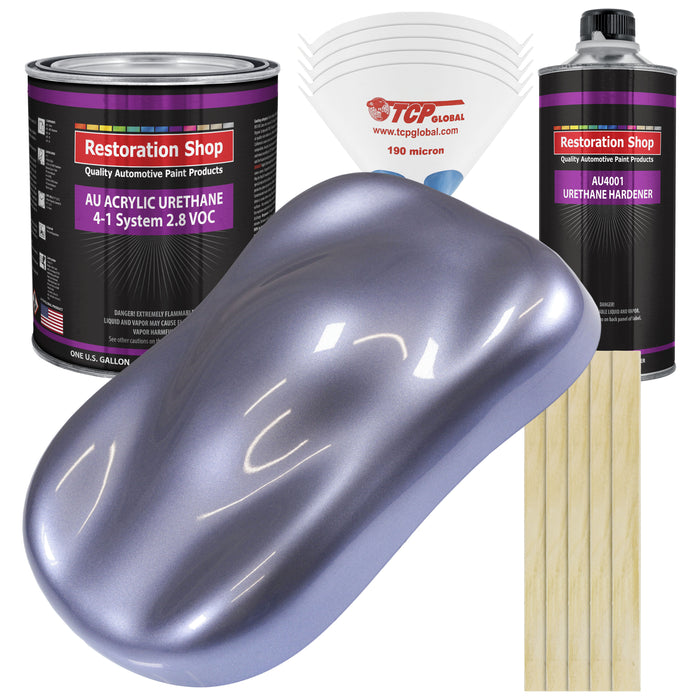 Astro Blue Metallic Acrylic Urethane Auto Paint - Complete Gallon Paint Kit - Professional Single Stage High Gloss Automotive, Car, Truck Coating, 4:1 Mix Ratio 2.8 VOC