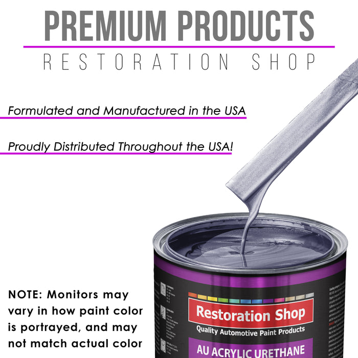 Astro Blue Metallic Acrylic Urethane Auto Paint - Complete Quart Paint Kit - Professional Single Stage High Gloss Automotive, Car, Truck Coating, 4:1 Mix Ratio 2.8 VOC