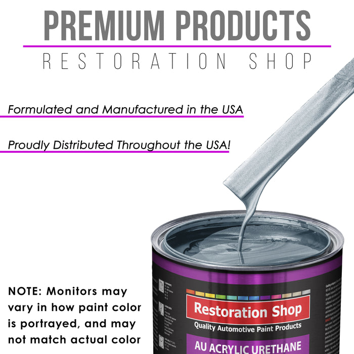 Ice Blue Metallic Acrylic Urethane Auto Paint - Gallon Paint Color Only - Professional Single Stage High Gloss Automotive, Car, Truck Coating, 2.8 VOC