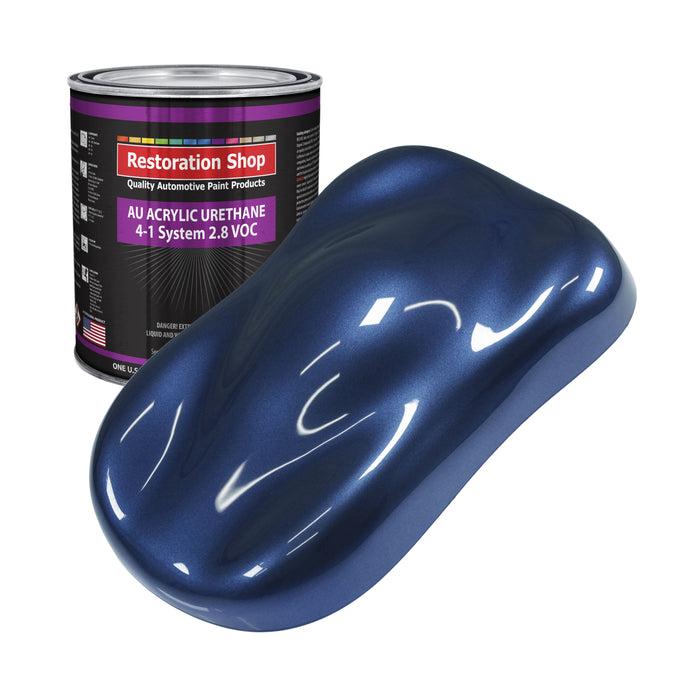 Sapphire Blue Metallic Acrylic Urethane Auto Paint - Gallon Paint Color Only - Professional Single Stage High Gloss Automotive, Car, Truck Coating, 2.8 VOC