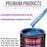 Intense Blue Metallic Acrylic Urethane Auto Paint - Complete Gallon Paint Kit - Professional Single Stage High Gloss Automotive, Car, Truck Coating, 4:1 Mix Ratio 2.8 VOC