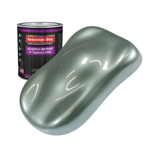 Slate Green Metallic Acrylic Urethane Auto Paint - Quart Paint Color Only - Professional Single Stage High Gloss Automotive, Car, Truck Coating, 2.8 VOC