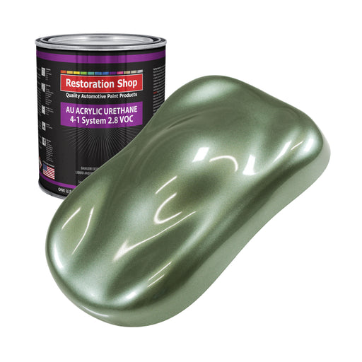 Fern Green Metallic Acrylic Urethane Auto Paint - Gallon Paint Color Only - Professional Single Stage High Gloss Automotive, Car, Truck Coating, 2.8 VOC