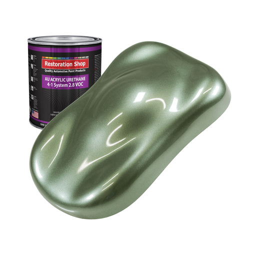 Fern Green Metallic Acrylic Urethane Auto Paint - Quart Paint Color Only - Professional Single Stage High Gloss Automotive, Car, Truck Coating, 2.8 VOC