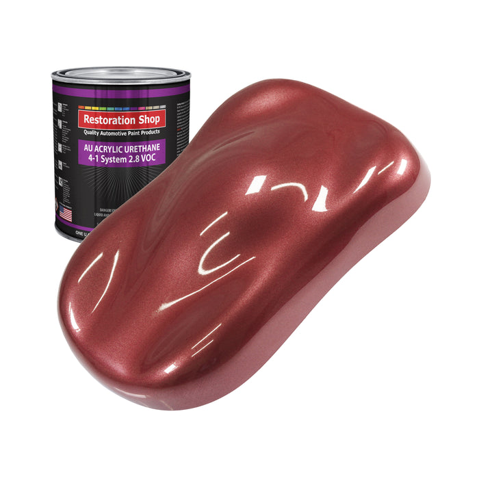 Candy Apple Red Metallic Acrylic Urethane Auto Paint - Quart Paint Color Only - Professional Single Stage High Gloss Automotive, Car, Truck Coating, 2.8 VOC