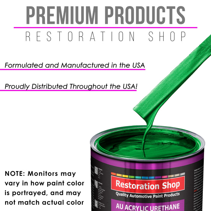 Firemist Green Acrylic Urethane Auto Paint - Complete Gallon Paint Kit - Professional Single Stage High Gloss Automotive, Car, Truck Coating, 4:1 Mix Ratio 2.8 VOC