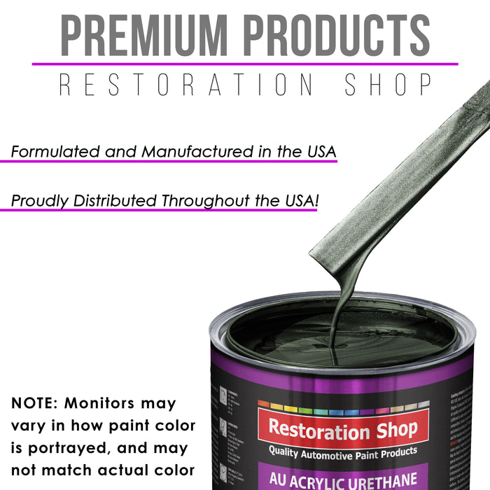 Fathom Green Firemist Acrylic Urethane Auto Paint - Complete Gallon Paint Kit - Professional Single Stage High Gloss Automotive, Car, Truck Coating, 4:1 Mix Ratio 2.8 VOC