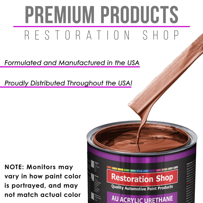 Whole Earth Brown Firemist Acrylic Urethane Auto Paint - Complete Gallon Paint Kit - Professional Single Stage High Gloss Automotive, Car, Truck Coating, 4:1 Mix Ratio 2.8 VOC