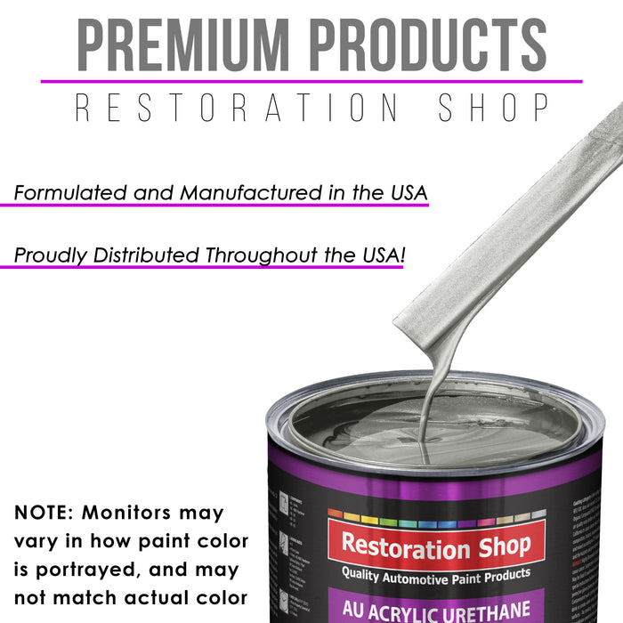 Brilliant Silver Firemist Acrylic Urethane Auto Paint - Complete Quart Paint Kit - Professional Single Stage High Gloss Automotive, Car, Truck Coating, 4:1 Mix Ratio 2.8 VOC