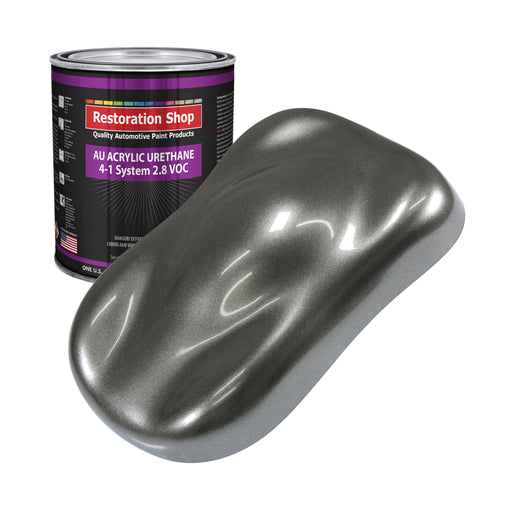 Charcoal Gray Firemist Acrylic Urethane Auto Paint - Gallon Paint Color Only - Professional Single Stage High Gloss Automotive, Car, Truck Coating, 2.8 VOC