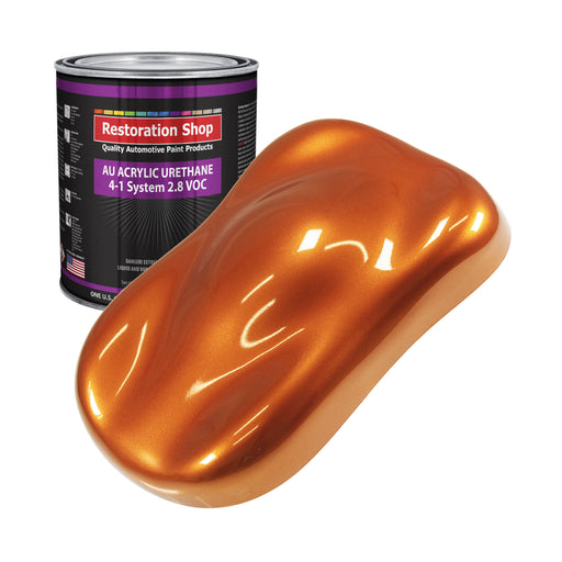 Firemist Orange Acrylic Urethane Auto Paint - Gallon Paint Color Only - Professional Single Stage High Gloss Automotive, Car, Truck Coating, 2.8 VOC