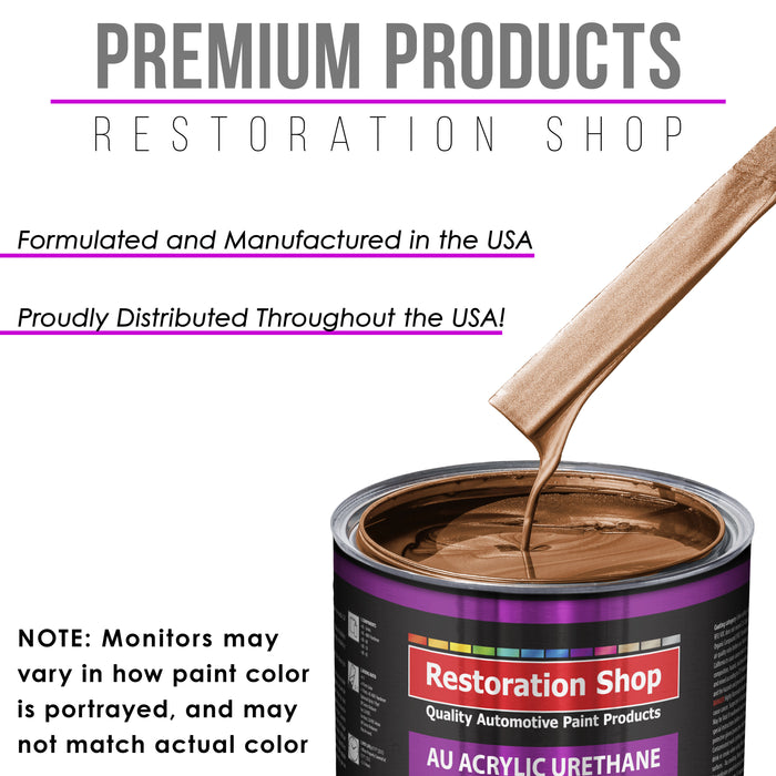Bronze Firemist Acrylic Urethane Auto Paint - Complete Gallon Paint Kit - Professional Single Stage High Gloss Automotive, Car, Truck Coating, 4:1 Mix Ratio 2.8 VOC